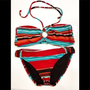 ❤️ 3/20 Mossimo Striped Bikini